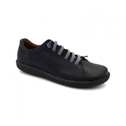 Woman Leather Sneakers 200 Black, By Boleta Shoes