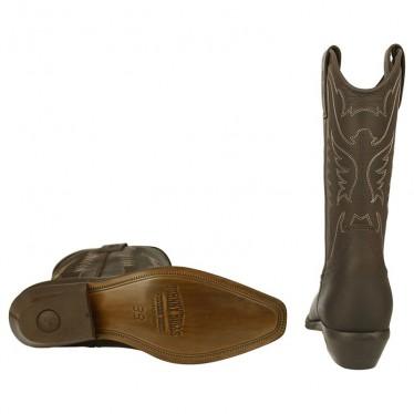 Men Biker Boots by Johnny Bulls 4730 BLACK SOLE