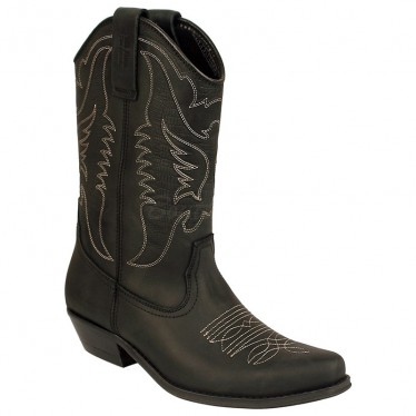 Men Biker Boots by Johnny Bulls 4730 BLACK