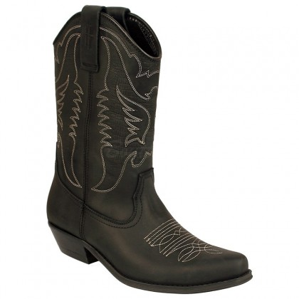 Men Biker Boots by Johnny Bulls SEV4730 BLACK