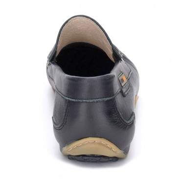 Man Leather Boat Loafers 416 Black, By Comodo Sport
