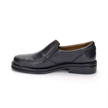 Man Leather Loafers 602 Black, By Comodo Sport