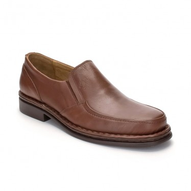 Man Leather Loafers 602 Brandy, By Comodo Sport