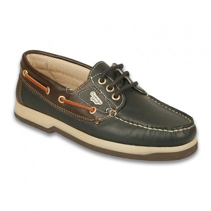 Man Leather Boat Shoes 1751 Navy, By Comodo Sport