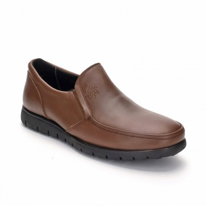 Man Leather Loafers 074 Brandy, By Comodo Sport