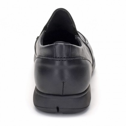 Man Leather Loafers 074 Black, By Comodo Sport