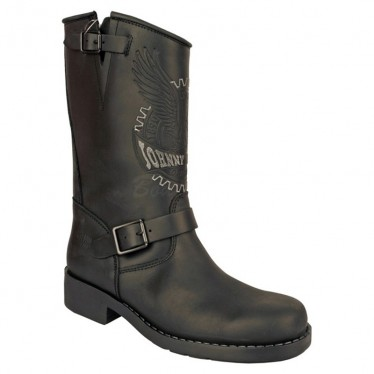 Men Biker Boots by Johnny Bulls 17828 BLACK