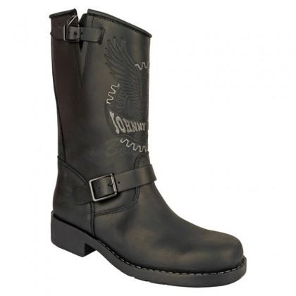 Men Biker Boots by Johnny Bulls SEV17828 BLACK