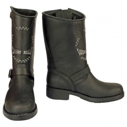 Men Biker Boots by Johnny Bulls SEV17828 BLACK SIDE