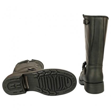 Men Biker Boots by Johnny Bulls SEV17828 BLACK SOLE