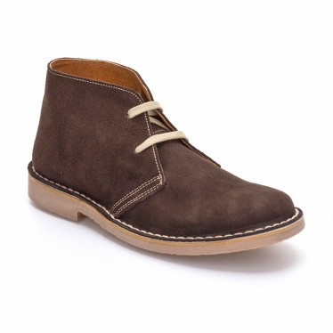 Woman Suede Safari Booties 360-S Brown, By C. Ortuño