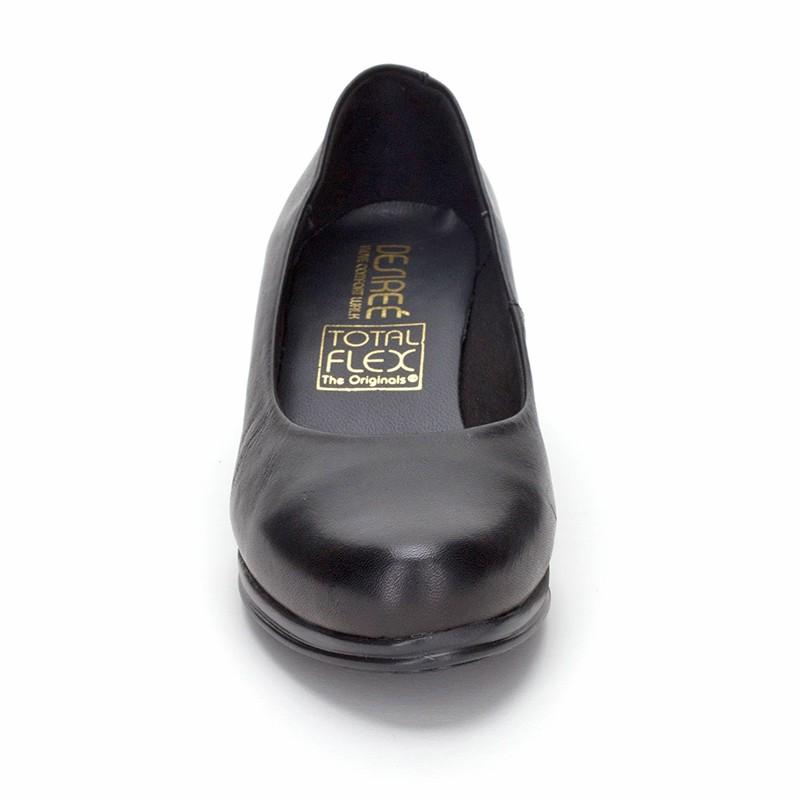 Zapatos De Salón Mujer Piel Tacón Bajo Muy Cómodos 1050