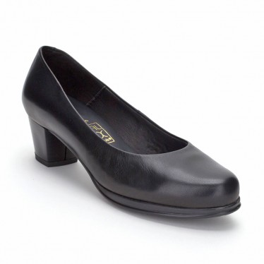 Woman Leather Comfort Pumps Low Heeled 1050 Black, by Desireé