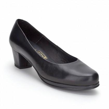 Zapatos De Salón Mujer Piel Tacón Bajo 1050DE Negro, de Desireé