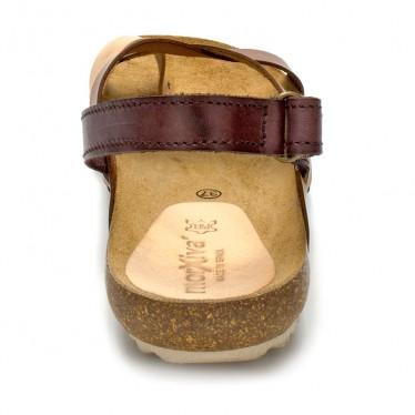Sandalias Bio Mujer Piel Velcro Piso Corcho 830mx Cuero, de Morxiva Shoes