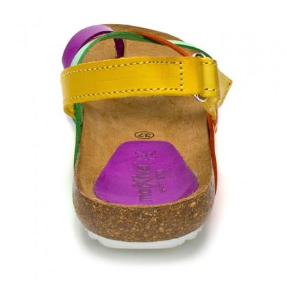Sandalias Bio Mujer Piel Velcro Piso Corcho 830mx Multi, de Morxiva Shoes