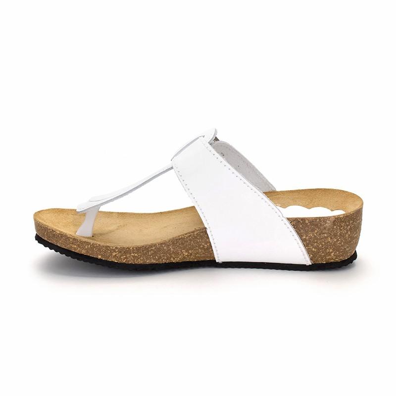 Shoes Piel BlancoDe Sandalias Morxiva Mujer Piso Corcho Bio Cuña 414 D29WEHI