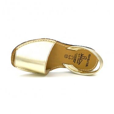 Avarcas Menorquinas Mujer Piel Metalizada 190AV Oro, de C. Ortuño