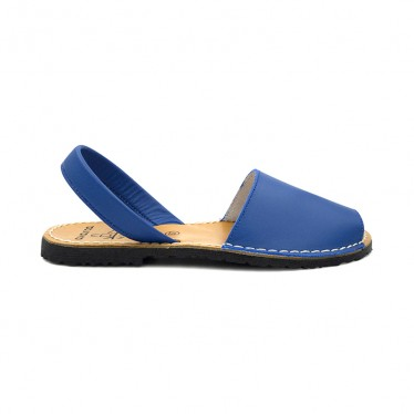 Woman Leather Basic Menorcan Sandals 201-S Blue, by C. Ortuño