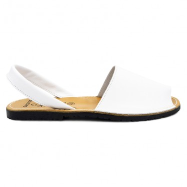 Man Leather Basic Menorcan Sandals 201-C White, by C. Ortuño