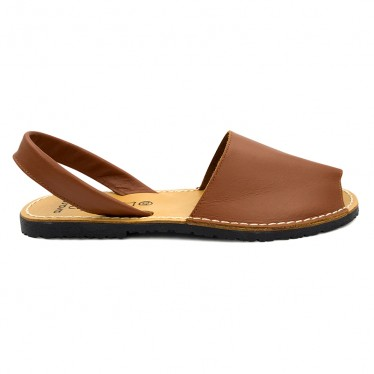 Man Leather Basic Menorcan Sandals 201-C Leather, by C. Ortuño