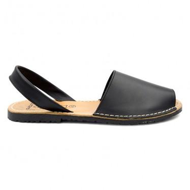 Man Leather Basic Menorcan Sandals 201-C Black, by C. Ortuño