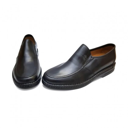 Man Leather Loafers 6076 Black, By Comodo Sport