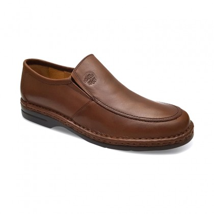 Man Leather Loafers 6076 Mahogany, By Comodo Sport