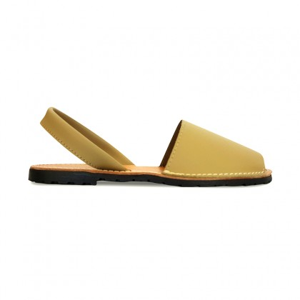 Woman Leather Basic Menorcan Sandals 550 Beige, by Pisable