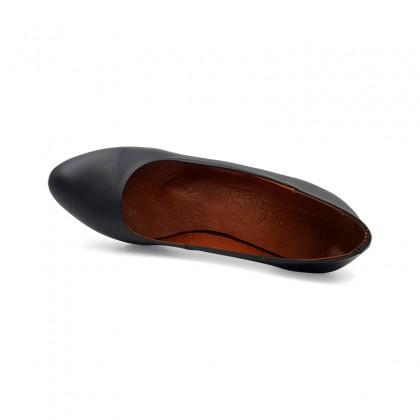 Zapatos De Salón Mujer Piel Tacón Medio Muy Cómodos 2220I Negro, de Desireé