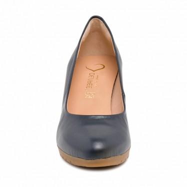 Zapatos De Salón Tacón Medio Mujer Piel Muy Cómodos 2220 Marino, de Desireé