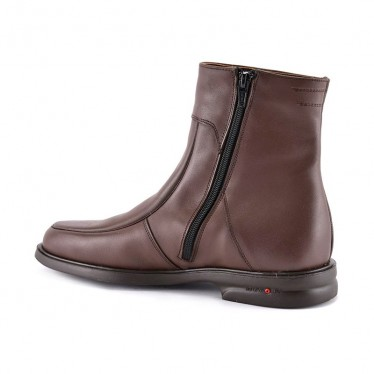 Man Leather Ankle Boots Rubber Sole Shearling Linning 6825 Mahogany, by Donattelli Marttely Design