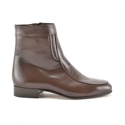 Man Leather Ankle Boots Leather Sole Leather Linning 5205 Mahogany, by Donattelli Marttely Design