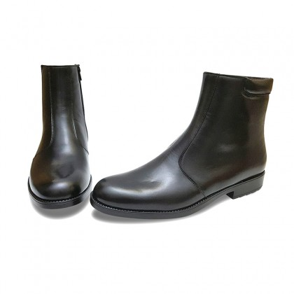 Man Leather Ankle Boots Ultralight Rubber Sole Leather Linning 10756 Black, by Donattelli Marttely Design