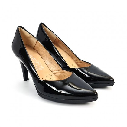 Woman Comfort Patent Leahter Pumps 2077 Black, by Desireé