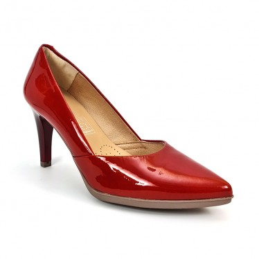 Woman Comfort Patent Leather Pumps 2077 Red, by Desireé