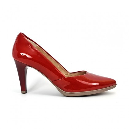 Woman Comfort Patent Leahter Pumps 2077 Red, by Desireé