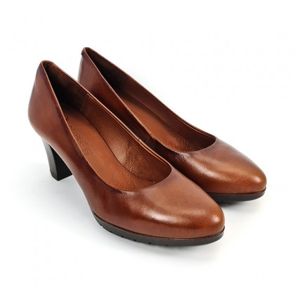 Woman Leather Comfort Pumps Medium Heeled 2220W Leather, by Desireé
