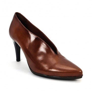 Woman Leather Comfort Booty Like Pumps High Heeled 92053 Leather, by Desireé