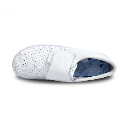 Zuecos Sanitarios Hombre Piel Perforada Cierre Velcro Anatómicos 293 Blanco, de Percla