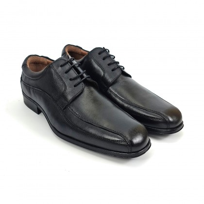 Man Nappa Leather Shoes Derby Style 1141 Black, by Urban Jungles