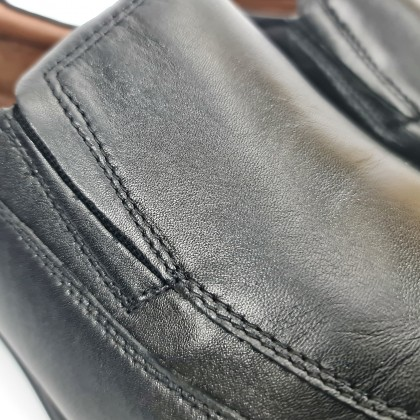 Man Nappa Leather Shoes Moccasin Like 1152 Black, by Urban Jungles