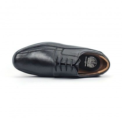 Man Nappa Leather Shoes Derby Like 1153 Black, by Urban Jungles