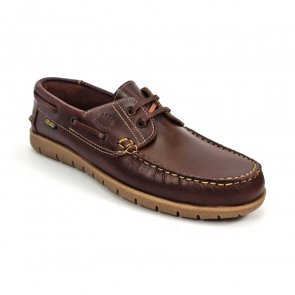 Man Pull Leather Boat Shoes 2025 Reddish, by Urban Jungles