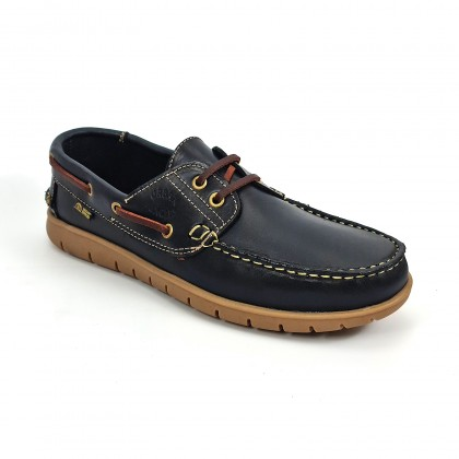 Man Pull Leather Boat Shoes 2025 Navy, by Urban Jungles