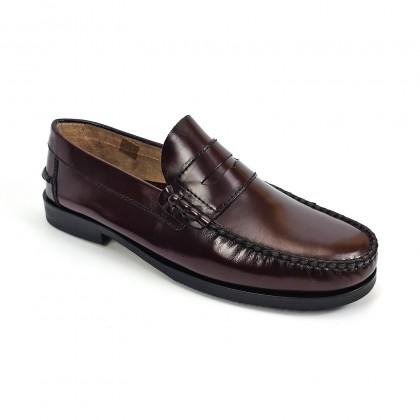 Zapatos Castellanos Hombre Piel Florentic Antifaz Suela Piel Y Goma Antideslizante 7000 Burdeos, de Urban Jungles