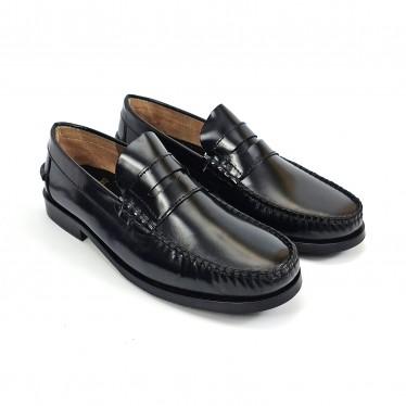 Zapatos Castellanos Hombre Piel Florentic Antifaz Suela Piel Y Goma Antideslizante 7000 Negro, de Urban Jungles