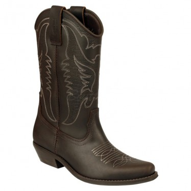 Men Biker Boots by Johnny Bulls 4730 BROWN