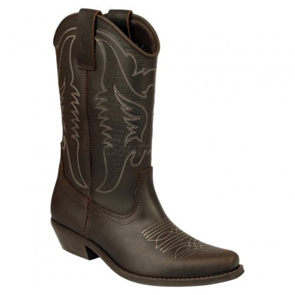 Men Biker Boots by Johnny Bulls SEV4730 BROWN