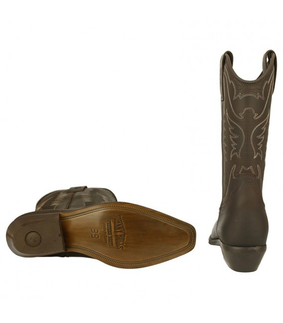 Men Biker Boots by Johnny Bulls 4730 BROWN SOLE